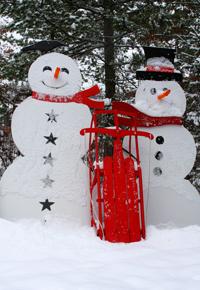 Northern Wisconsin Snow Men