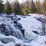 Bond Falls just across the Wisconsin state line in Michigan