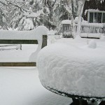 Wisconsin Home Made Snow Gauge